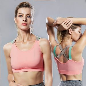 Light Pink Crisscross Wirefree Sports Bra
