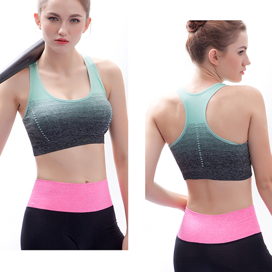 Sublimated raceback sports bra