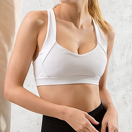 Racerback white Sports Bra