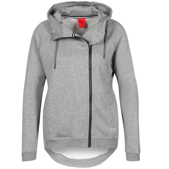 Cheap Nike Modern Cape Hooded Zipper Grey Heather Women Nike Jackets Coats