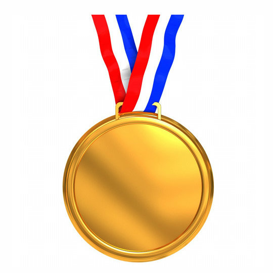 Glossy Gold Medal