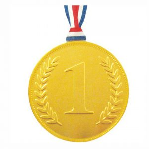 Gold Medal with Engraved Olive Branch