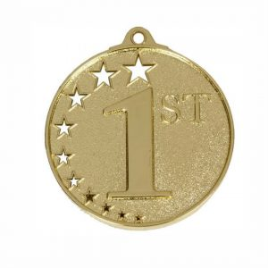 Gold Star Studded Medal