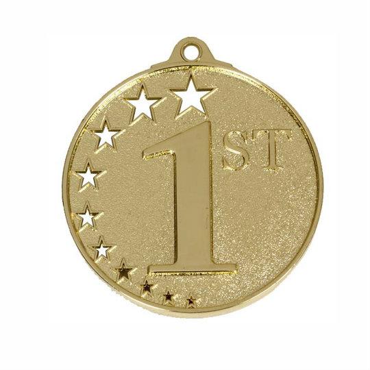 Gold Star Studded Medal