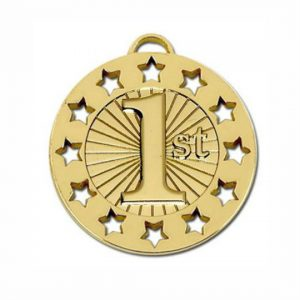 Golden Star Engraved Medal
