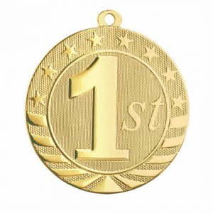 Numeric Engraved Gold Medal