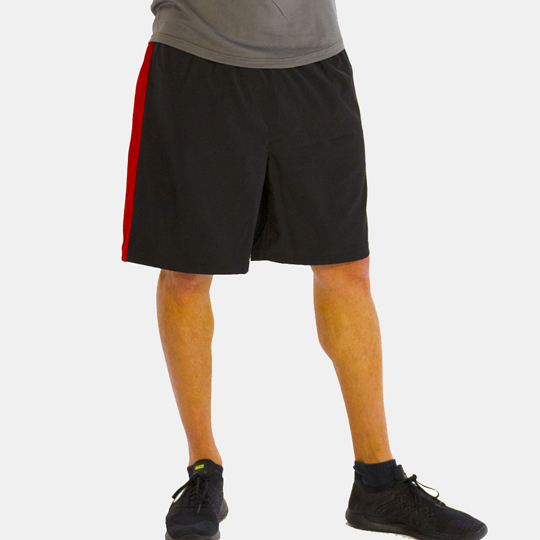 Black & Red Accented Shorts