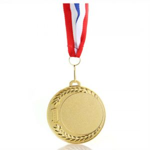 Sleek Suspended Gold Medal