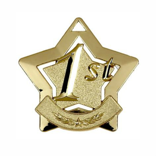 Star Shaped Gold Medal