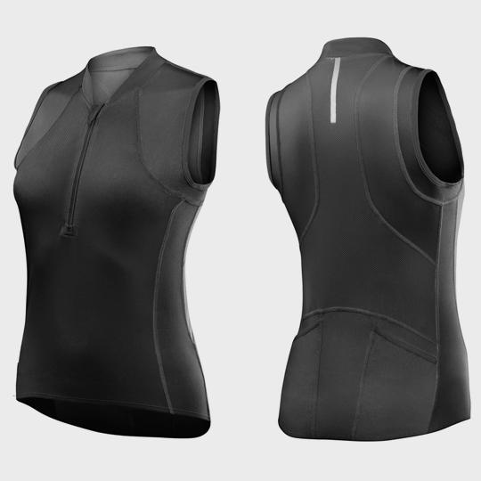 wholesale black triathlon suit top supplier
