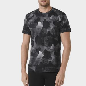Black Camouflage Short Sleeves Marathon T-shirt Manufacturer