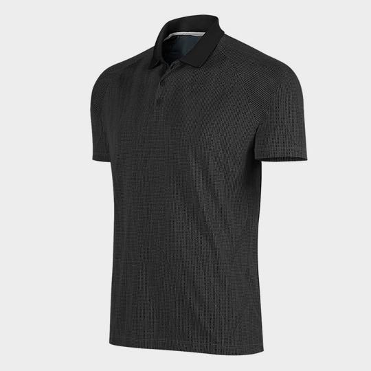 Wholesale Black Polo Short Sleeves Marathon T-shirt Supplier USA
