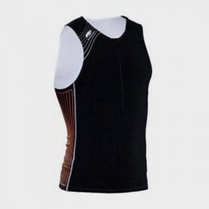 bulk black printed marathon tank top supplier