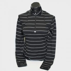 bulk black striped long sleeves marathon t-shirt supplier