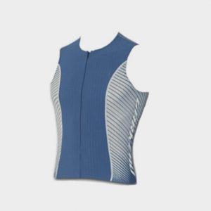Blue and White Short Sleeves Marathon T-shirt Supplier USA