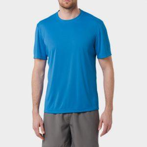 Wholesale Blue Short Sleeve Marathon T-shirt Supplier