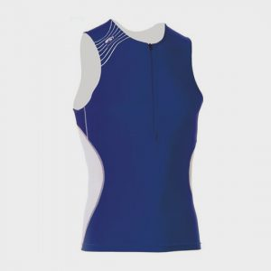 wholesale blue sleeveless marathon tank top supplier