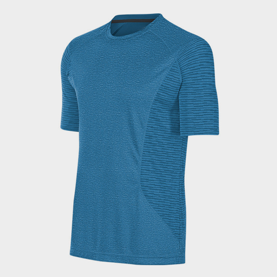 Wholesale Blue Trendy Short Sleeves Marathon T-shirt Supplier