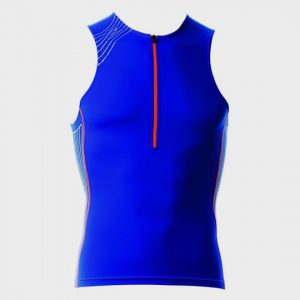 bulk bright blue sleeveless marathon tank top