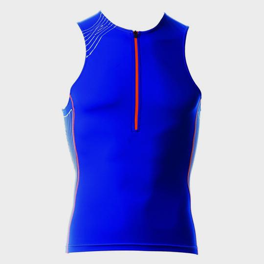 bulk bright blue sleeveless marathon tank top