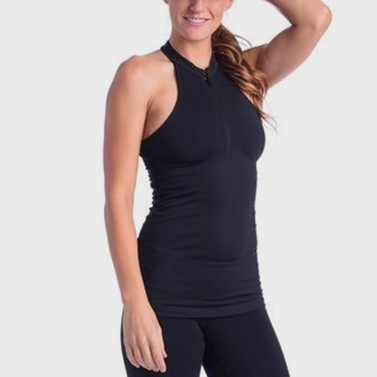 bulk marathon black zipped tank top supplier