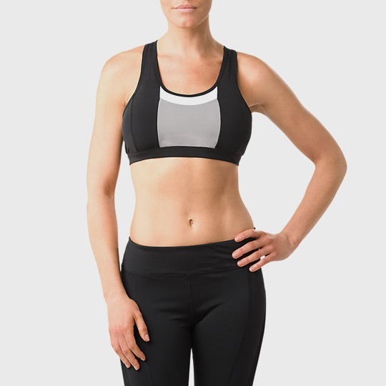 wholesale marathon black and white sports bra manufacturer