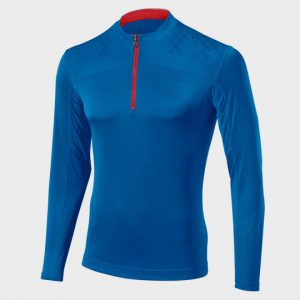 wholesale contrast zip long sleeve marathon t-shirt supplier