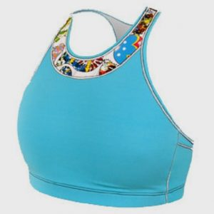 bulk marathon aqua blue sports bra distributor