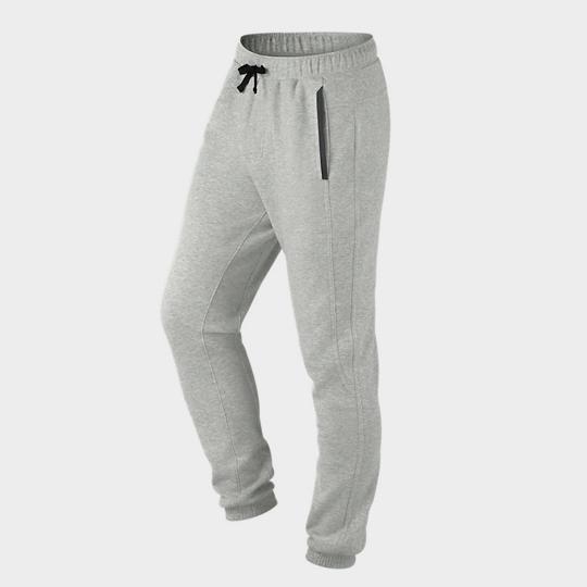 Bulk Grey Grained Jogger Marathon Pants Supplier