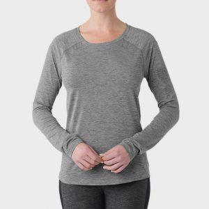 bulk grey round neck long sleeve marathon t-shirt supplier