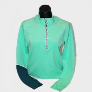 wholesale light green long sleeve marathon t-shirt manufacturer