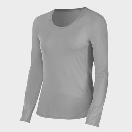 wholesale light grey long sleeve marathon t-shirt manufacturer