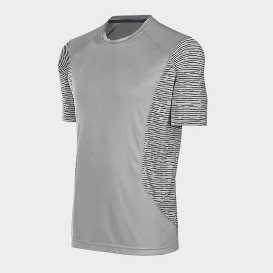 Bulk Light Grey Trendy Short Sleeves Marathon T-shirt Supplier
