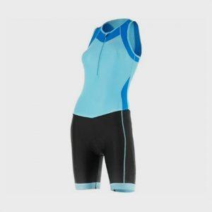 wholesale light navy blue and black triathlon suit supplier