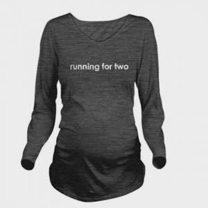 wholesale dark grey long sleeve maternity marathon t-shirt supplier