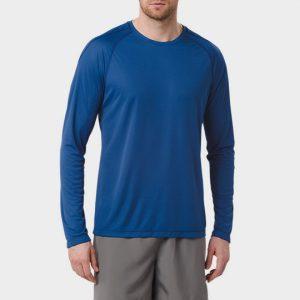 Long Sleeve Navy Blue Personalised Marathon T-shirt Wholesale USA