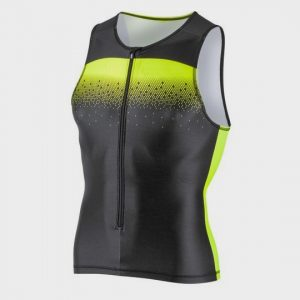 wholesale marathon black and neon peppy tank top supplier