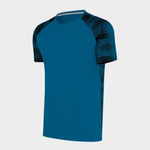 Wholesale Marathon Blue Printed Half Sleeves T-Shirt Supplier USA