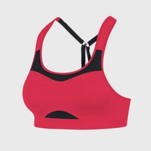 wholesale marathon dark pink and black sports bra supplier