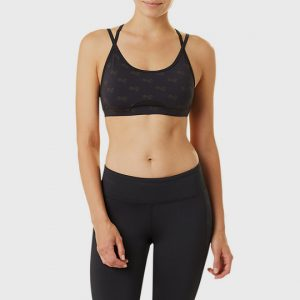 bulk marathon double strapped black sports bra distributor