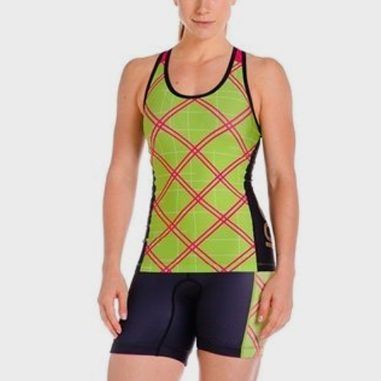 wholesale marathon green checkered tank top distributor