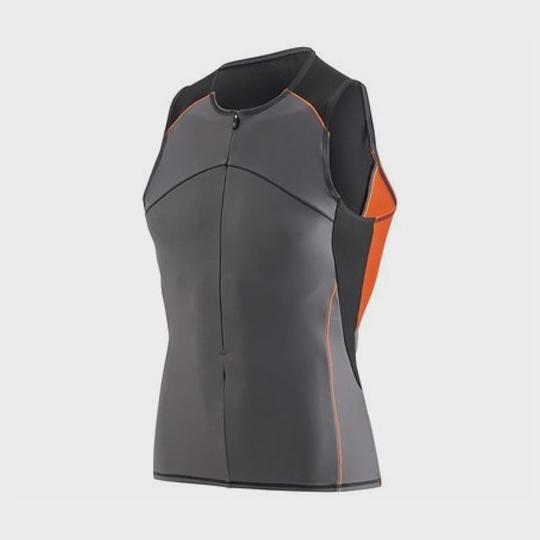wholesale marathon grey and orange tank top supplier