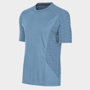 Marathon Light Blue Textured Short Sleeves Tee Supplier USA
