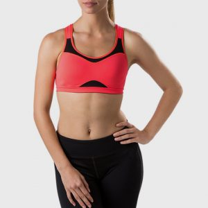 wholesale marathon neon pink sports bra supplier