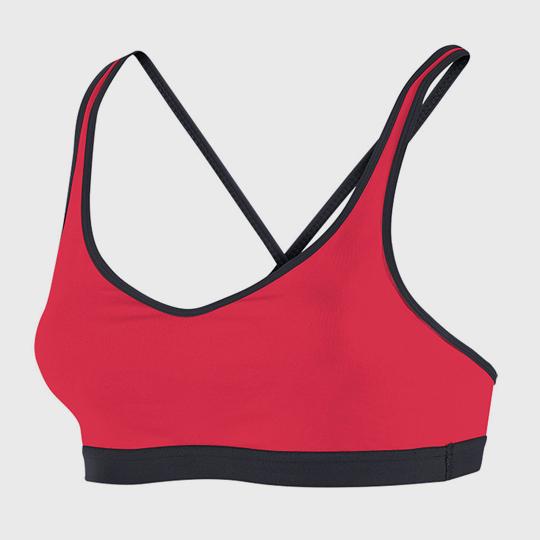 wholesale marathon red and black sports bra manufacturer