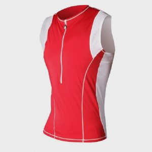 wholesale marathon red and white tank top supplier