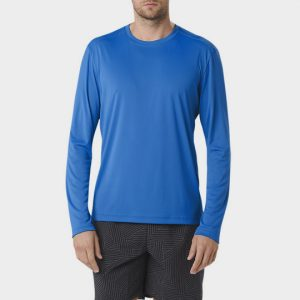 Wholesale Marathon Soft Blue Long Sleeve Tee Supplier