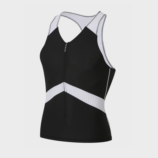 wholesale marathon v-neck black tank top supplier