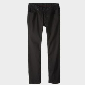 Black straight cut marathon pants distributor