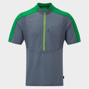 Grey and Green Shorts Sleeve Tee Manufacturer